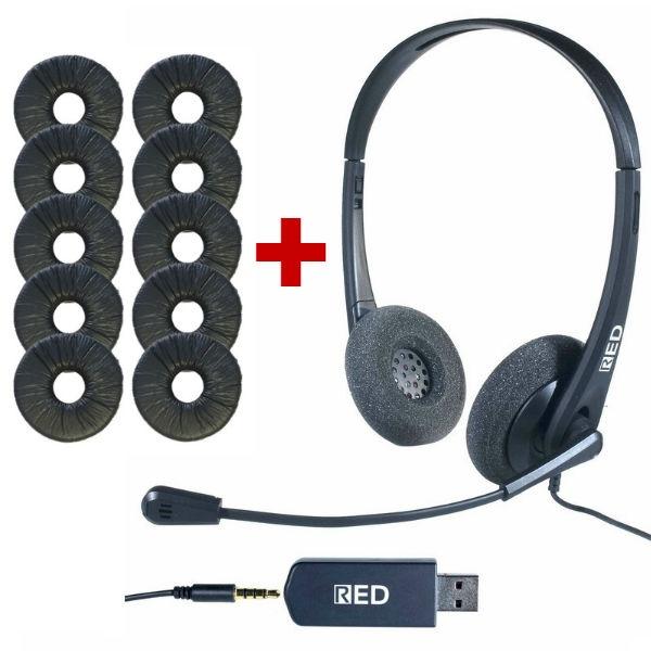 Auricular HC 35 USB + 10 almofadas