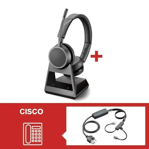 Pack Plantronics Voyager 4220 Office USB-A para telefone Cisco