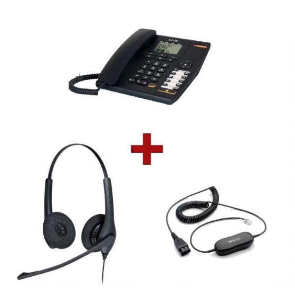 Alcatel Temporis 880 + Auricular Jabra Duo + Cabo de conexão