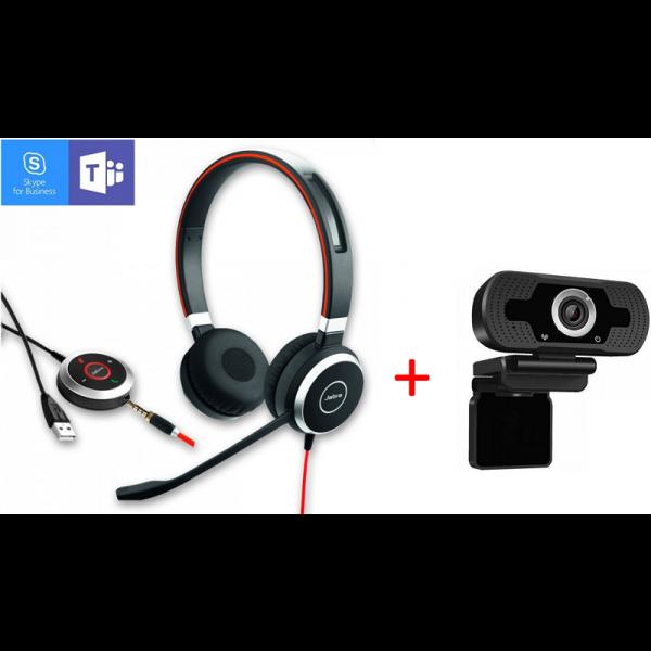 Jabra Evolve 40 MS Stereo + Webcam