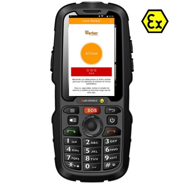Telemóvel i.safe IS310.2 Atex sem câmara + App Lone Worker