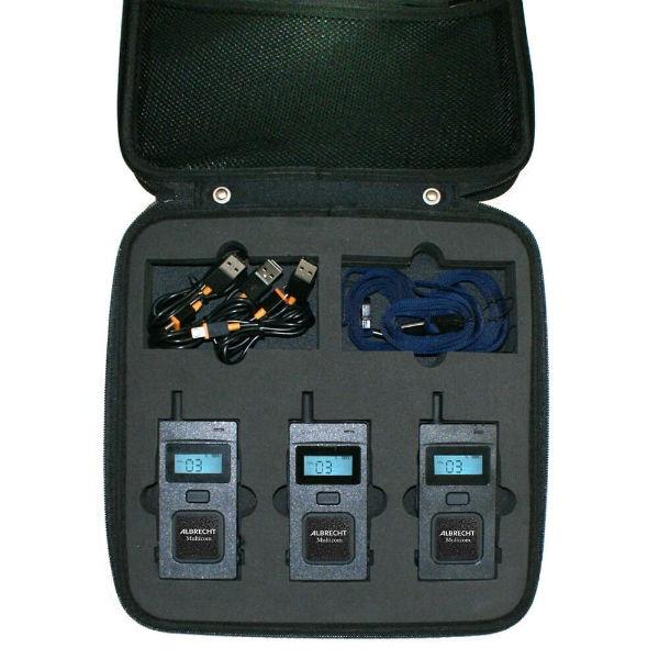 Mala de 3 Albrecht Multicom - Sistema de comunicação