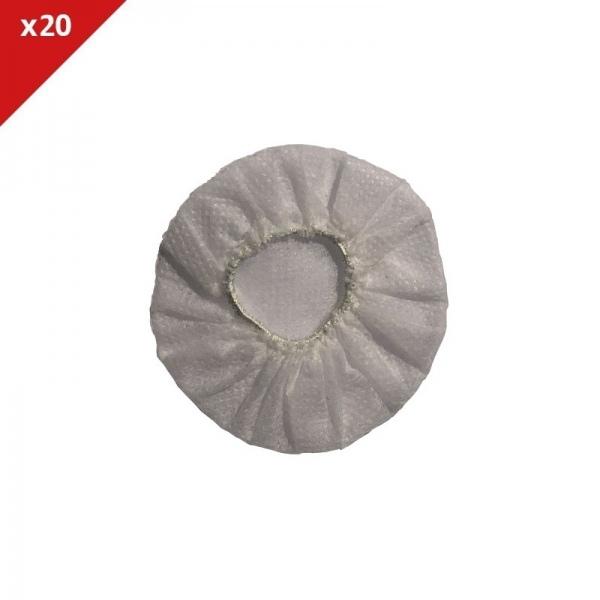 Almofadas descartáveis brancas - 20 uds