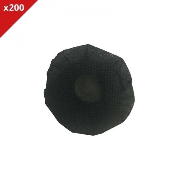 Almofadas descartáveis pretas - 200 uds