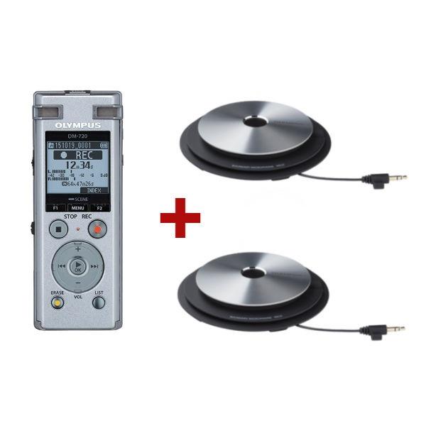 Olympus DM-720 + 2 microfones ME-33