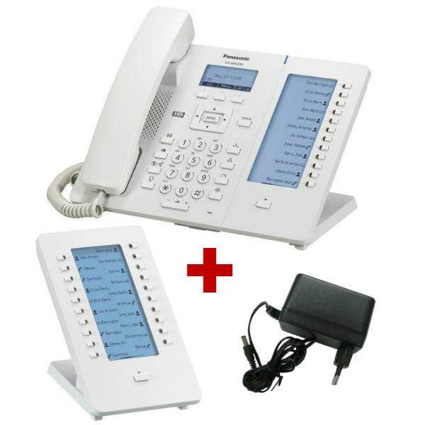 Panasonic KX-HDV230 Branco com alimentação + extensão teclado