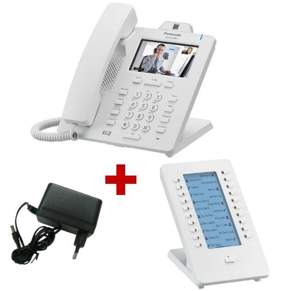 Panasonic KX-HDV430 Branco com alimentação + expansão de teclado