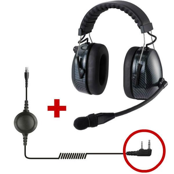 Auricular de proteção HRT3000 para Motorola 2 pins