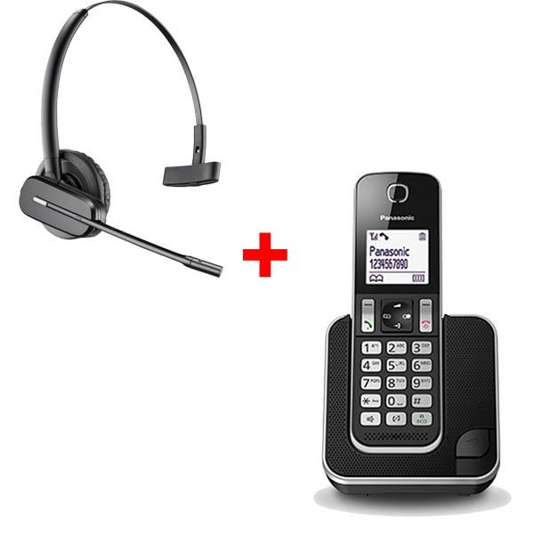 Panasonic KX-TGD310 + auricular sem fios Plantronics C565