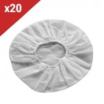 20 Almofadas descartáveis brancas