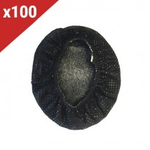 Protetores descartáveis para almofadas - preto (100 uds)