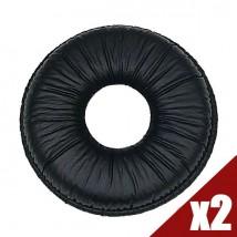 2 Almofadas semi couro para Supra Plus / Entera / Blackwire C600