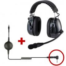 Auricular de proteção HRT3000 para Motorola 1 pin