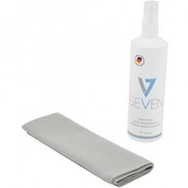 V7 - Kit de limpeza com spray para ecrãs e camurça