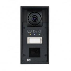 2N Helios IP Force com 1 tecla + câmara + pictogramas + leitor de cartões e altavoz 10W
