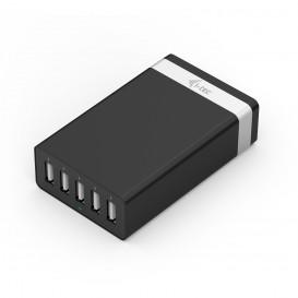 i-tec CHARGER5P40W carregador de dispositivos móveis interior Preto, Prateado