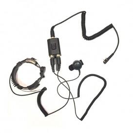 Micro-auricular laringofone versão Motorola 2 pins
