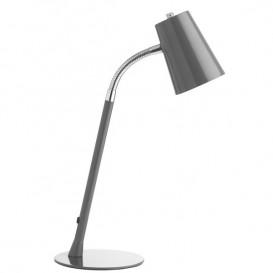 Lâmpada de secretária LED Unilux Flexio Cinzento metálico