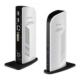 i-tec Advance U3DVIDOCKL base & duplicador de portas USB 3.0 (3.1 Gen 1) Type-A Preto, Branco