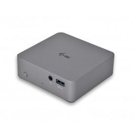 i-tec Metal C31METAL4KDOCKPD base & duplicador de portas USB 3.0 (3.1 Gen 1) Type-C Cinzento