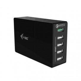 i-tec CHARGER5P52WQC carregador de dispositivos móveis interior Preto