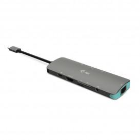 i-tec Metal C31NANODOCKLANPD base & duplicador de portas USB 3.0 (3.1 Gen 1) Type-C Prateado, Turquesa