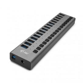i-tec U3CHARGEHUB16 carregador de dispositivos móveis interior Cinzento