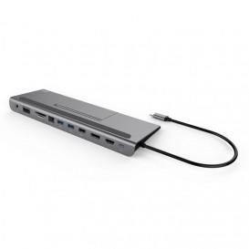 i-tec Metal C31FLATDOCKPDPLUS base & duplicador de portas USB 3.0 (3.1 Gen 1) Type-A Cinzento
