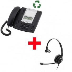 Aastra 6753 reacondicionado com auricular Sennheiser