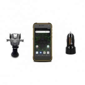 Pack completo: Smartphone Active 2 Laranja + carregador e suporte para carro