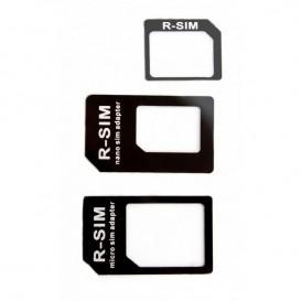 Adaptador cartão SIM Nano + Micro Sim 3 em 1