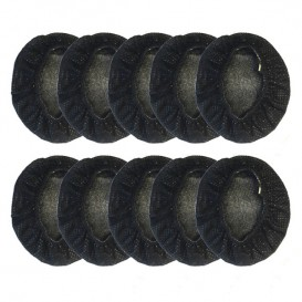 10 Almofadas descartáveis pretas