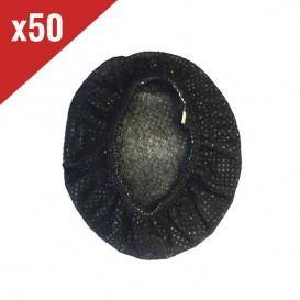 Protetores descartáveis para almofadas - preto (50 uds)