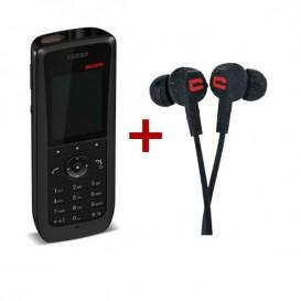 Ascom d63 Messenger + Auriculares impermeáveis Crosscall