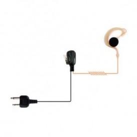 Auricular gancho para Kenwood T- Tubo transparente