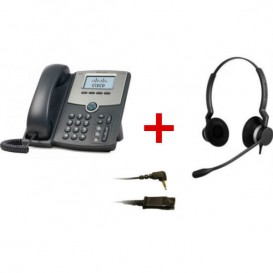 Cisco SPA 502G + Jabra BIZ 2300 Duo + Cabo