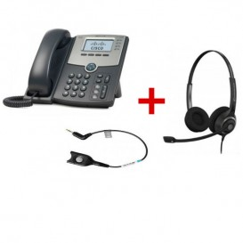 Cisco SPA 504G + Sennheiser SC260 + Cabo CCEL191-2