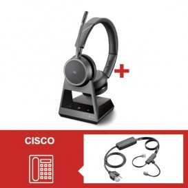 Pack Plantronics Voyager 4220 Office MS USB-C com atendedor para telefone Cisco