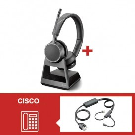 Pack Plantronics Voyager 4220 Office USB-C com atendedor eletrónico para Cisco