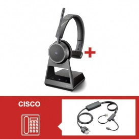 Pack Plantronics Voyager 4210 Office USB-C MS com atendedor eletrónico para Cisco