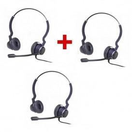Pack promo 2 + 1: Auricular com cabo Cleyver HC25 V2
