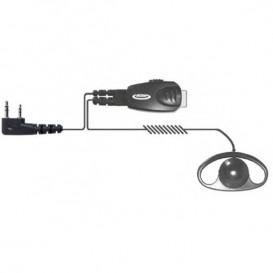 Auricular Earloop com conexão Kenwood 2 pins