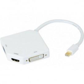 Conversor mini Display Port a HDMI, DVI ou VGA