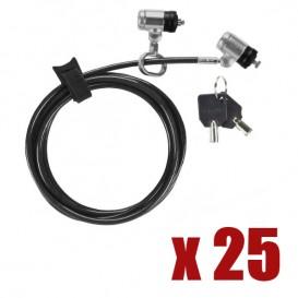 Cadeado de segurança com cabo Dual P2MKL Targus Defcon
