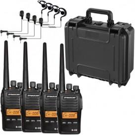 Pack: Mala com 4 Dynascan R-58 + 4 auriculares