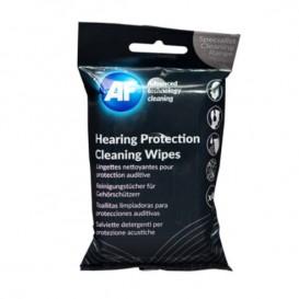 Toalhitas de limpeza para proteções auditivas