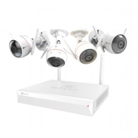 Sistema de vigilância Ezviz ezWireless Kit 4IPC