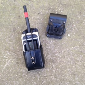 Bolsa-Capa universal em couro para walkie talkies