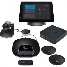 Logitech GROUP + SmartDock +Surface Pro 5 + Extender Box + Microfones de expansão