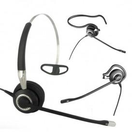 Jabra BIZ 2400 II Mono, 3 aplicações com microfone ultra cancelamento.